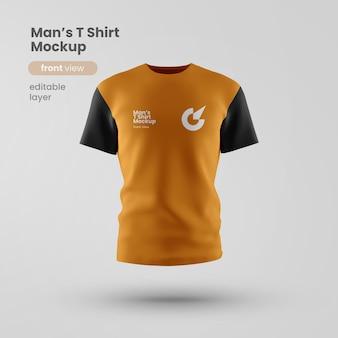 Camiseta personalizável premium psd mockup front view