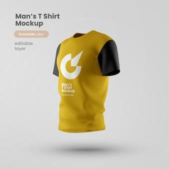 Camiseta personalizável premium psd mockup vista frontal