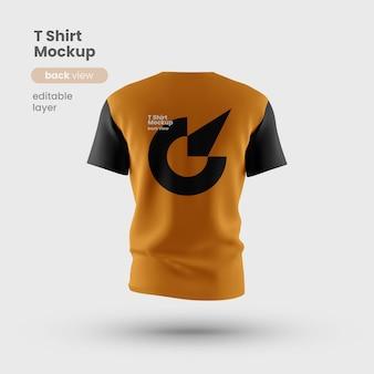 Camiseta personalizável premium psd vista traseira do mockup