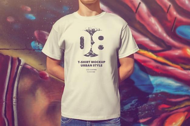 Camisetas masculinas de modelos urbanos