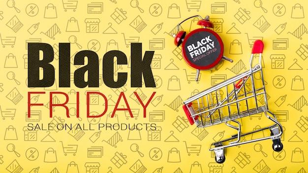 Campanha de vendas on-line sexta-feira negra