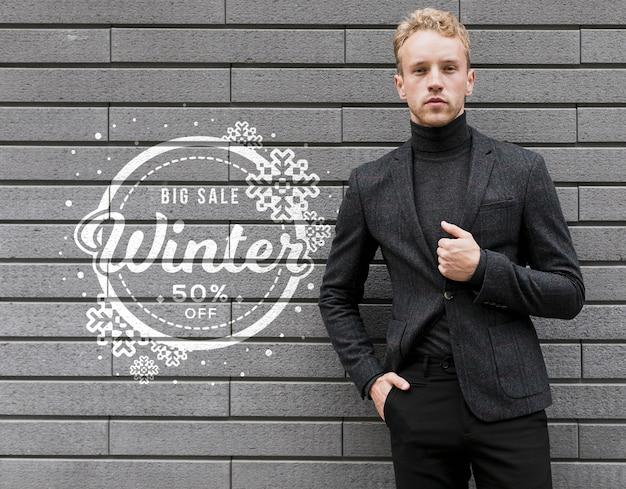 Campanha promocional de vendas de inverno