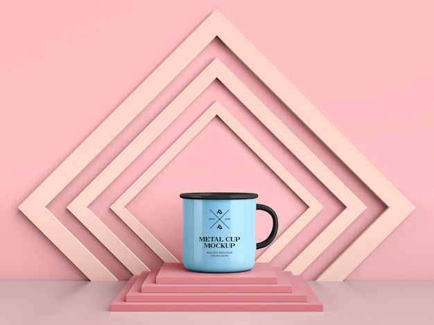 Caneca de café de esmalte