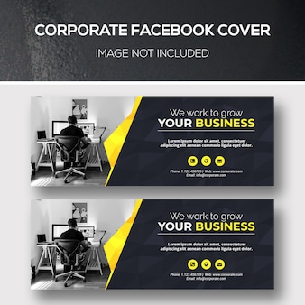 Capa corporativa do facebook