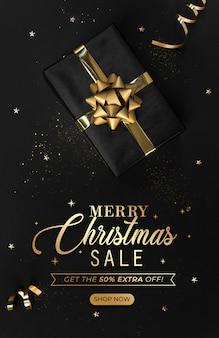 Capa de banner de venda de natal site.