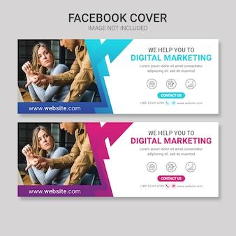 Capa de facebook de marketing de negócios