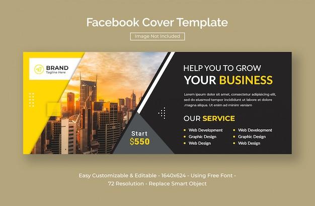 Capa de facebook de marketing promocional de negócios