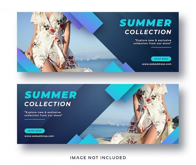 Capa de facebook de venda de moda de verão