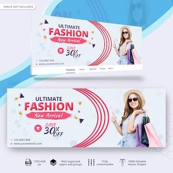 Capa de facebook de venda de moda