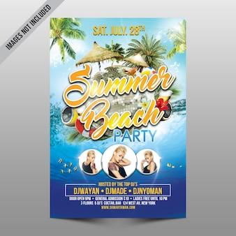Capa de festa de praia de verão