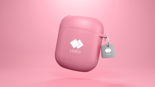 Capa de fone de ouvido com modelo de tag