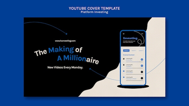Capa de investimento de plataforma para youtube