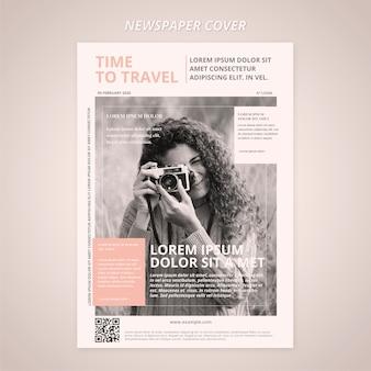 Capa de modelo de jornal de viagens