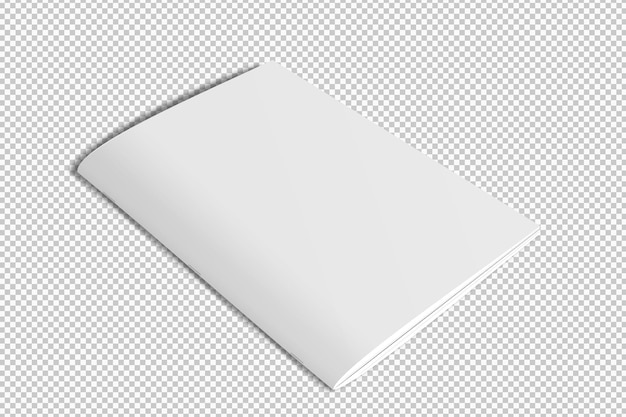 Capa de revista branca isolada