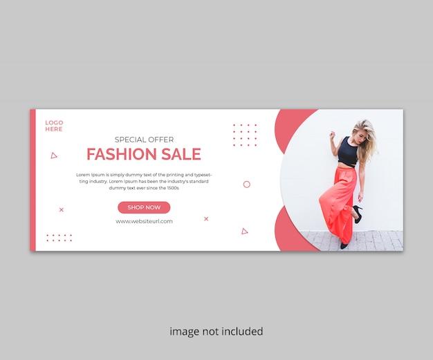 Capa de timeline do facebook de venda de moda