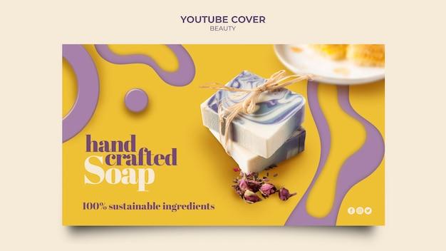 Capa de youtube de sabonete artesanal criativa