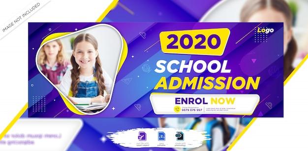 Capa do cronograma do facebook de admissão na escola