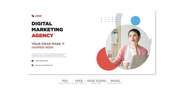 Capa do facebook comercial e banner da web premium psd