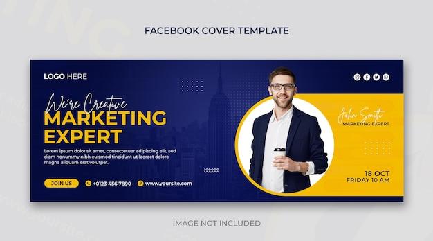 Capa do facebook da agência de marketing digital e negócios corporativos ou modelo de design de banner da web