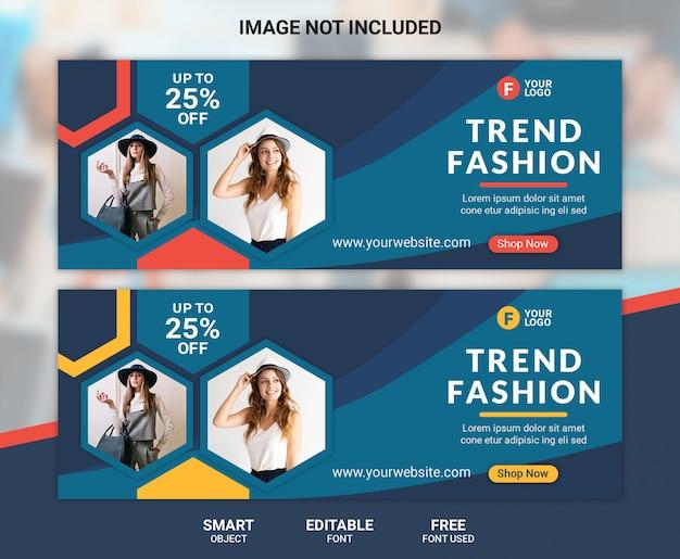 Capa do facebook de moda ou modelo de banner