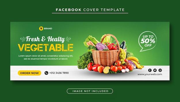 Capa do facebook de vegetais saudáveis