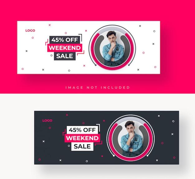 Capa do facebook de venda ou modelo de banner da web