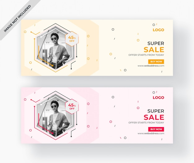 Capa do facebook de venda ou web banner design
