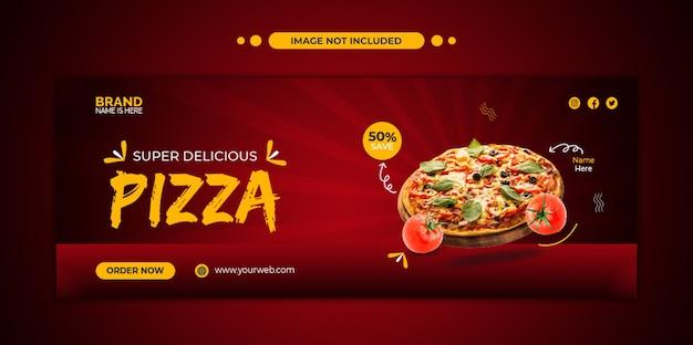 Capa do facebook do menu de comida e modelo de banner da web