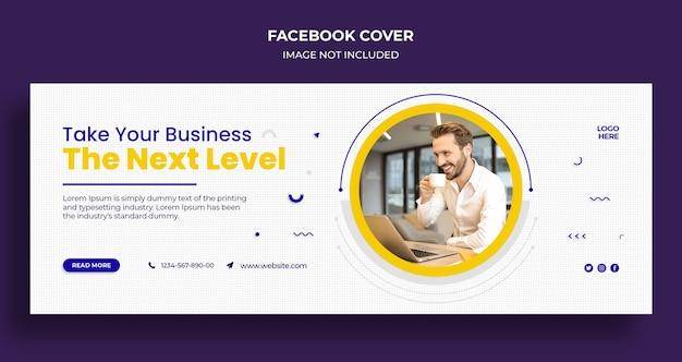 Capa do facebook e modelo de banner da web para agência corporativa