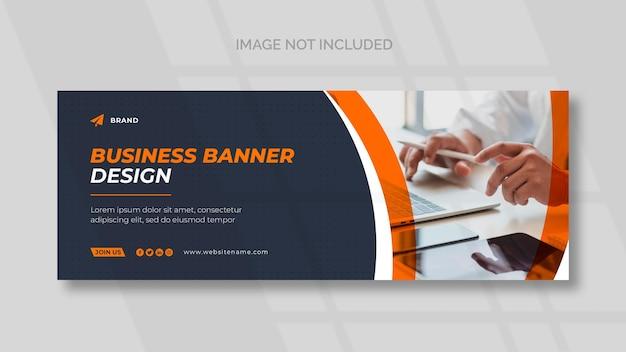 Capa do facebook empresarial e modelo de banner panorâmico