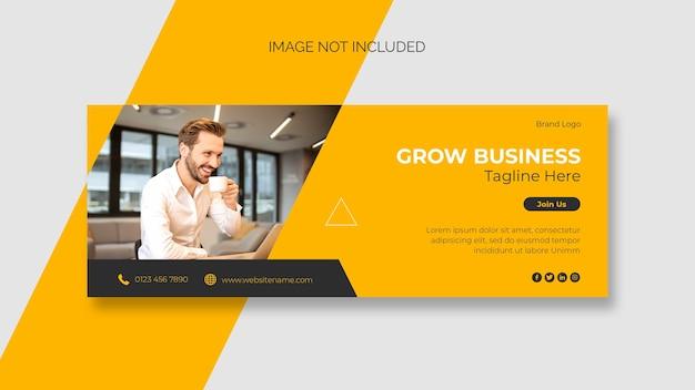 Capa do facebook para negócios e modelo de banner da web
