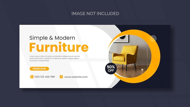Capa do furniture do facebook e modelo de banner da web