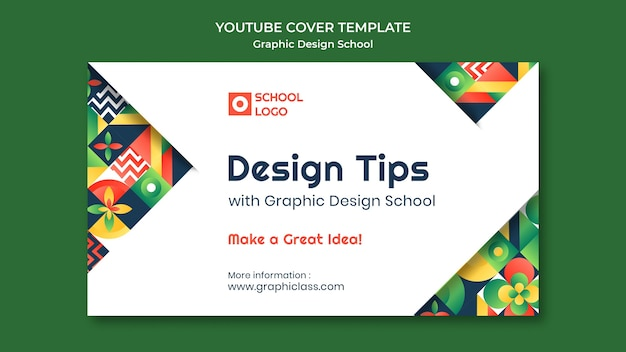 Capa do youtube da escola de design gráfico