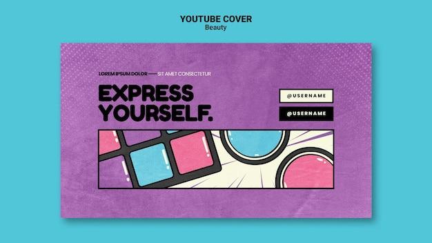 Capa do youtube de beleza pop art