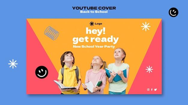 Capa do youtube de volta às aulas