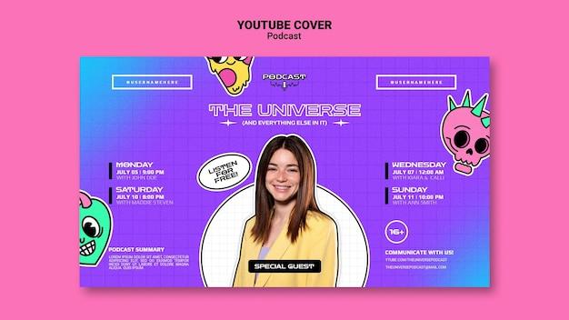 Capa do youtube do podcasr do universo