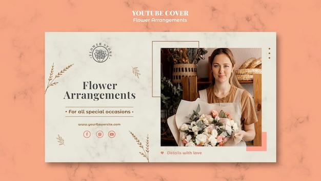 Capa do youtube para loja de arranjos florais