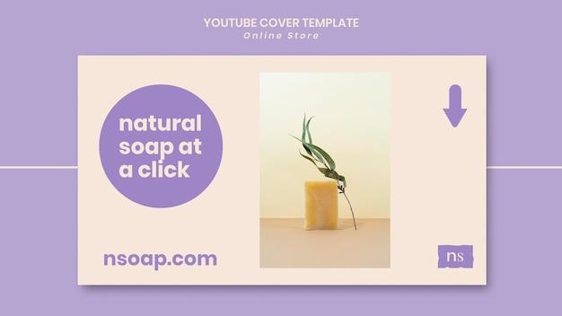 Capa do youtube para loja de sabonete artesanal