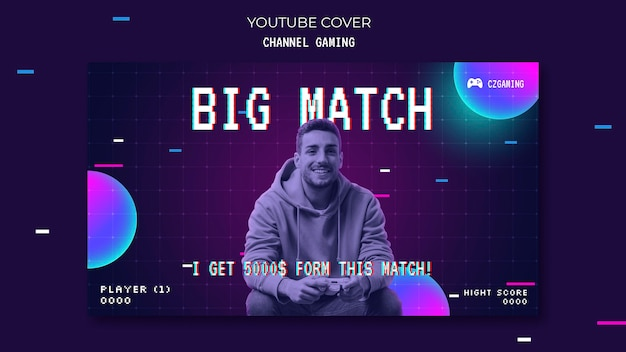 Capa do youtube para streaming de jogo
