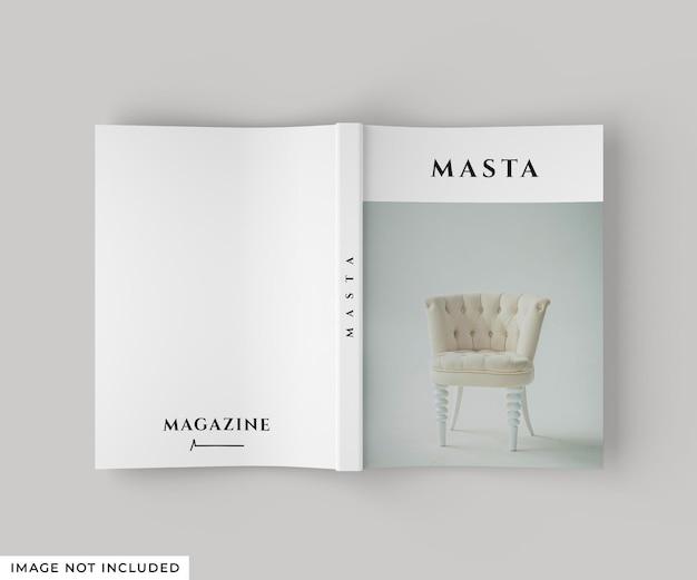 Capa e contracapa da maquete da revista