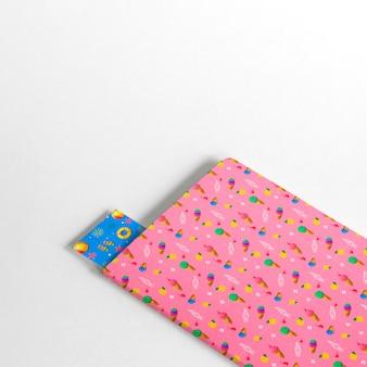 Capa e maquete de bookmark