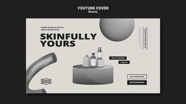 Capa monocromática de youtube para cuidados com a pele
