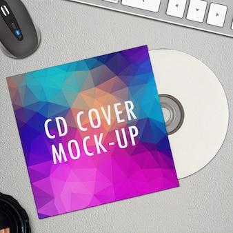 Capa para cd psd mock-up
