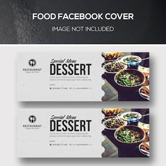 Capa para facebook de alimentos