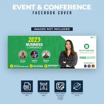 Capa para facebook de eventos e conferências