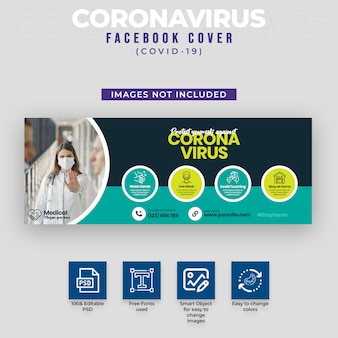 Capa para facebook do covid-19 & coronavirus
