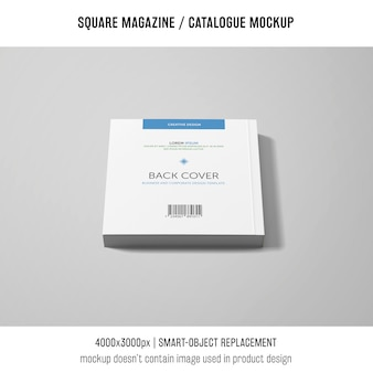 Capa traseira revista quadrada ou maquete de catálogo
