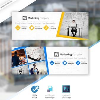 Capas de facebook de negócios de marketing
