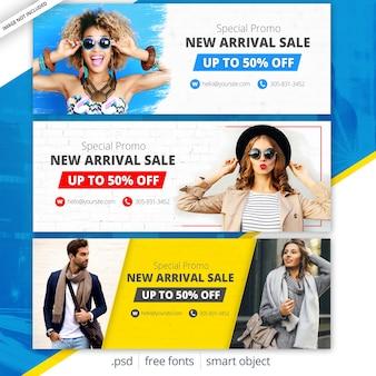 Capas de facebook de venda de moda