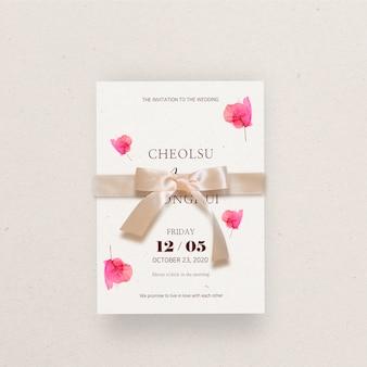 Capina convite decorado com flores